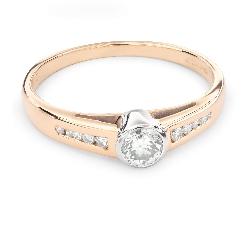 "Помолвочное кольцо с Бриллиантами ""Объятная 27"""