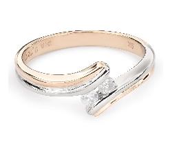 """Zelta gredzens ar Briljantiem """"Sapītie likteņi 34"""""""