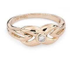 """Zelta gredzens ar Briljantu """"Dzīve 28"""""""