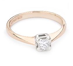 """Помолвочное кольцо с Aлмазом """"Принцесса 56"""""""