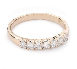 """Золотое кольцо с Бриллиантами """"Алмазная полоска 47"""""""