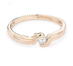 """Помолвочное кольцо с Бриллиантом """"Объятная 28"""""""
