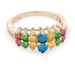"Золотое кольцо с Aлмазами ""Краски 41"""