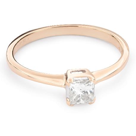"""Saderināšanās gredzens ar Dimantu """"Princese 58"""""""