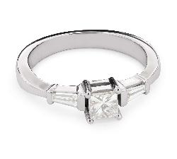 """Помолвочное кольцо с алмазами """"Принцессы 46"""""""