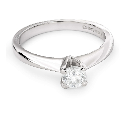 """Помолвочное кольцо с бриллиантом """"Богиня 92"""""""