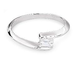 """Золотое кольцо с алмазом """"Среди скал 19"""""""