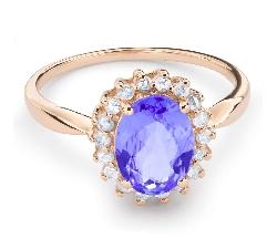 """Золотое кольцо с драгоценными камнями """"Краски 42"""""""