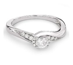 "Помолвочное кольцо с Бриллиантами ""Вихрь 24"""