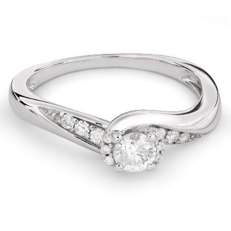 """Помолвочное кольцо с алмазами """"Вихрь 24"""""""