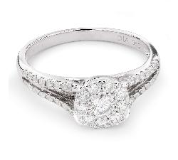 """Помолвочное кольцо с Aлмазами """"Бриллиантовый букет 43"""""""