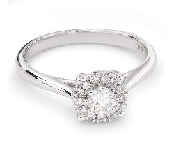 """Золотое кольцо с бриллиантами """"Бриллиантовый цветок 33"""""""
