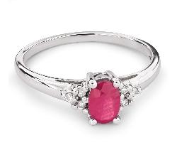 """Золотое кольцо с драгоценными камнями """"Рубин 13"""""""