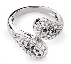 """Zelta gredzens ar Dimantiem """"Graciozitāte 107"""""""