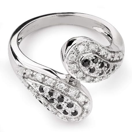 """Золотое кольцо с Aлмазами """"Грациозность 107"""""""