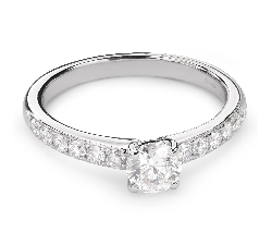 """Помолвочное кольцо с Бриллиантами """"Грациозность 108"""""""