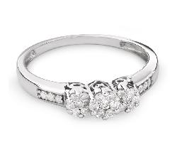 """Золотое кольцо с Бриллиантами """"Трилогия 22"""""""