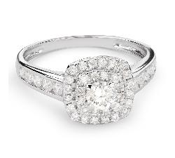 """Помолвочное кольцо с Aлмазами """"Бриллиантовый букет 44"""""""