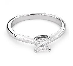 """Помолвочное кольцо с алмазом """"Принцесса 60"""""""