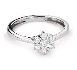 """Золотое кольцо с бриллиантами """"Бриллиантовый цветок 34"""""""