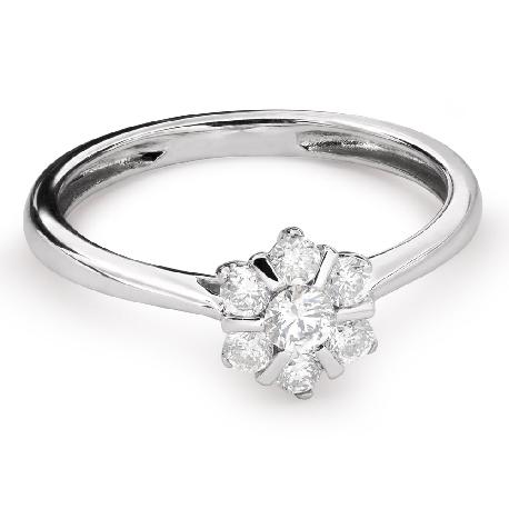 """Помолвочное кольцо с Бриллиантами """"Бриллиантовый цветок 34"""""""