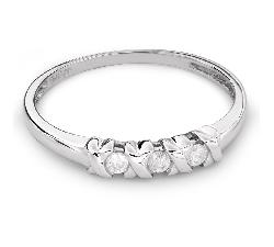 """Золотое кольцо с бриллиантами """"Трилогия 25"""""""