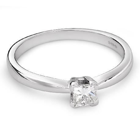 """Помолвочное кольцо с алмазом """"Принцесса 61"""""""