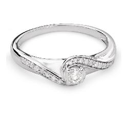 "Помолвочное кольцо с Бриллиантами ""Вихрь 25"""
