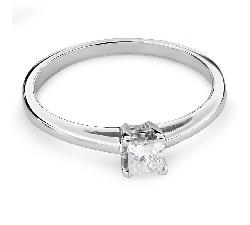 """Помолвочное кольцо с алмазом """"Принцесса 72"""""""