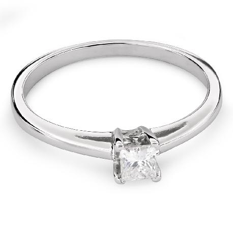 """Saderināšanās gredzens ar dimantu """"Princese 72"""""""