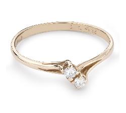 """Zelta gredzens ar Briljantiem """"Sapītie likteņi 38"""""""