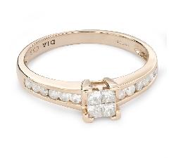 """Помолвочное кольцо с бриллиантами """"Принцессы 47"""""""