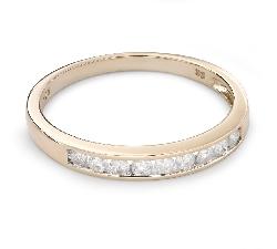 """Золотое кольцо с Бриллиантами """"Алмазная полоска 48"""""""
