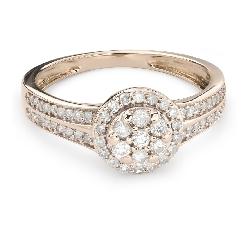 """Помолвочное кольцо с Бриллиантами """"Бриллиантовый букет 45"""""""