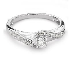 """Zelta gredzens ar Dimantiem """"Dzīve 30"""""""