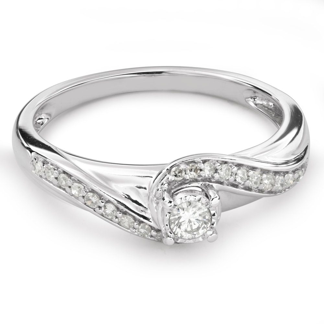"""Помолвочное кольцо с алмазами """"Жизнь 30"""""""