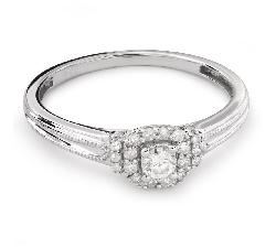 """Золотое кольцо с Бриллиантами """"Бриллиантовый цветок 35"""""""
