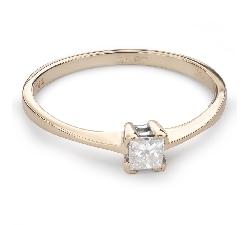 """Помолвочное кольцо с Aлмазом """"Принцесса 67"""""""