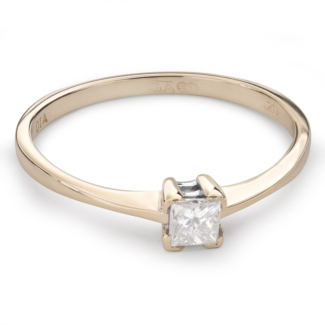 """Saderināšanās gredzens ar Dimantu """"Princese 67"""""""