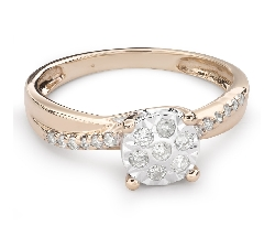 """Zelta gredzens ar Briljantu """"Mīļais 98"""""""