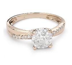 """Золотое кольцо с Бриллиантом """"Возлюбленный 98"""""""