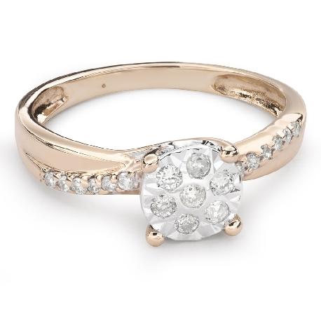 """Zelta gredzens ar Briljantiem """"Mīļais 98"""""""