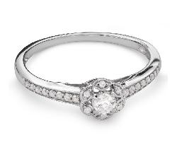 """Помолвочное кольцо с Бриллиантами """"Бриллиантовый букет 47"""""""