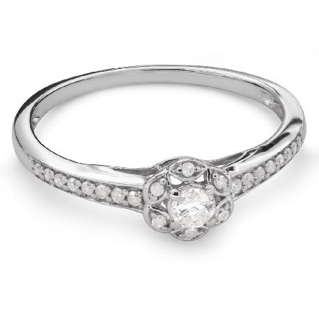"""Помолвочное кольцо с алмазами """"Бриллиантовый букет 47"""""""