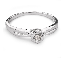 """Saderināšanās gredzens ar briljantu """"Mīļais 100"""""""