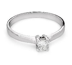 """Помолвочное кольцо с алмазом """"Принцесса 68"""""""