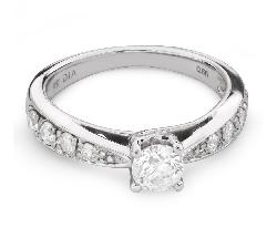 """Saderināšanās gredzens ar briljantiem """"Graciozitāte 109"""""""
