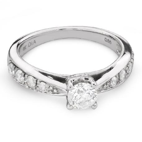 """Помолвочное кольцо с бриллиантами """"Грациозность 109"""""""