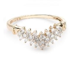 """Золотое кольцо с Бриллиантами """"Бриллиантовый цветок 37"""""""