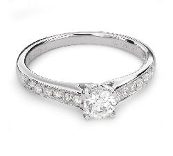 """Помолвочное кольцо с бриллиантами """"Грациозность 110"""""""
